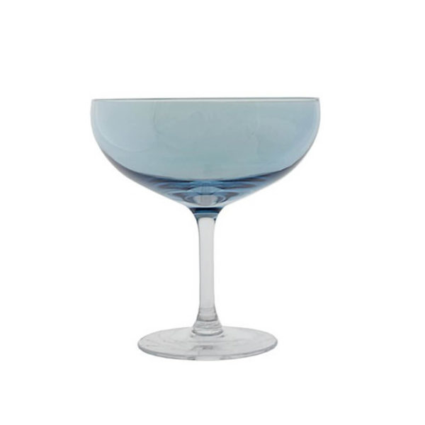 Happy champangeglass blå