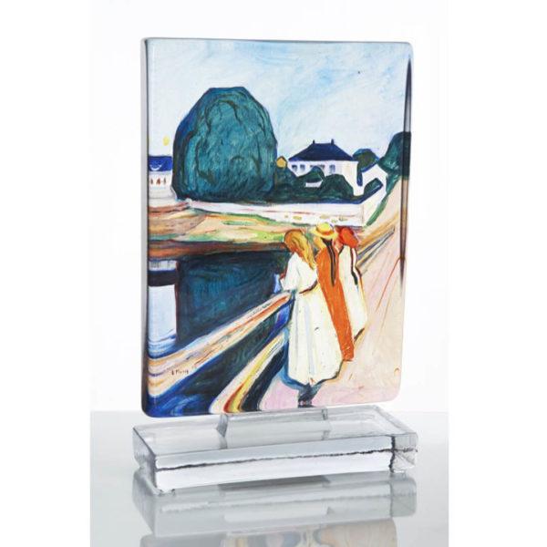 Munch Pikene på broen kunstglass