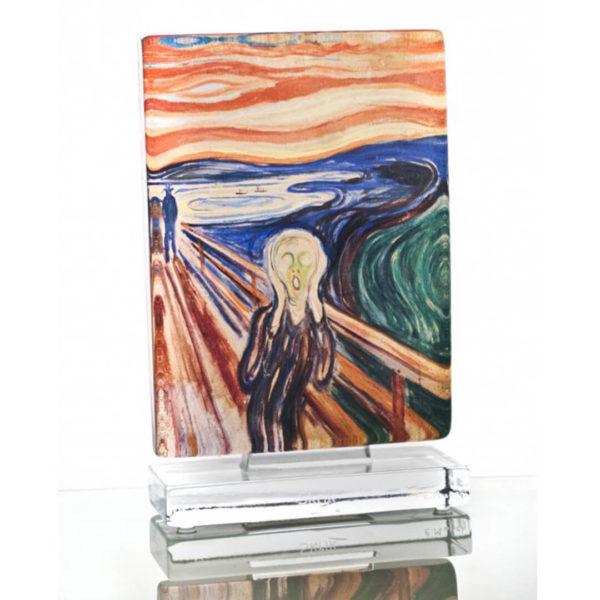 Munch Skrik kunstglass