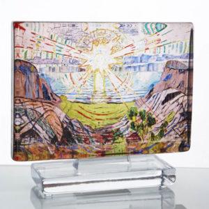 Munch Solen kunstglass